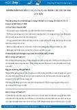 Giải bài tập Mắt SGK Vật lý 9