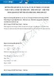 Giải bài tập Luyện tập hình nón – Hình nón cụt – Diện tích xung quanh và thể tích của hình nón, hình nón cụt SGK Toán 9 tập 2