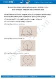 Giải bài tập Vị trí tương đối của đường thẳng và đường tròn SGK Toán 9 tập 1