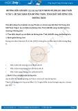 Giải bài tập Sự xác định của đường tròn, tính chất đối xứng của đường tròn SGK Toán 9 tập 1