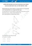 Giải bài tập Ôn tập chương 1 SGK Hình học 9 tập 1