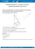 Giải bài tập Câu hỏi ôn tập chương 1 SGK Hình học 9 tập 1