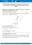 Giải bài tập Luyện tập một số hệ thức về cạnh và góc trong tam giác vuông SGK Toán 9 tập 1