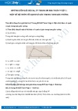 Giải bài tập Một số hệ thức về cạnh và góc trong tam giác vuông SGK Toán 9 tập 1