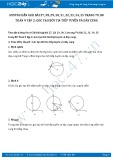Giải bài tập Góc tạo bởi tia tiếp tuyến và dây cung SGK Toán 9 tập 2