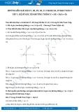 Giải bài tập Hệ số góc của đường thẳng y = ax + b (a ≠ 0) SGK Toán 9 tập 1