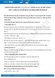 Giải bài tập Nhắc lại và bổ sung các khái niệm về hàm số SGK Toán 9 tập 1