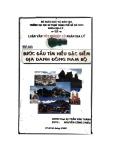 Luận văn tốt nghiệp Cử nhân Địa lý: Bước đầu tìm hiểu đặc điểm địa danh Đông Nam Bộ