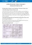 Giải bài tập Tiến hóa về tổ chức cơ thể SGK Sinh học 7