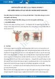 Giải bài tập Đặc điểm chung và vai trò của ngành ruột khoang SGK Sinh học 7