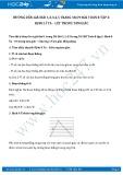 Giải bài tập Định lí Ta – Lét trong tam giác SGK Hình học 8 tập 2