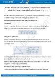 Giải bài tập Định lí đảo và hệ quả của định lí Ta – Lét SGK Hình học 8 tập 2