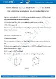 Giải bài tập Diện tích xung quanh của hình lăng trụ đứng SGK Hình học 8 tập 2
