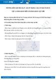 Giải bài tập Hình chóp đều và hình chóp cụt đều  SGK Hình học 8 tập 2