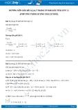 Giải bài tập Phương trình lượng giác cơ bản SGK Đại số và giải tích lớp 11