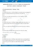 Giải bài tập Hoán vị-Chỉnh hợp-Tổ hợp SGK Đại số và Giải tích 11