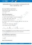 Giải bài tập Nhị thức Niu-tơn SGK Đại số và giải tích 11