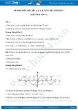 Giải bài tập ôn tập chương 1 SGK Đại số và giải tích lớp 11