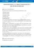 Giải bài tập Hàm số lượng giác SGK Đại số và giải tích 11