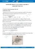 Giải bài tập Quang hợp ở thực vật SGK Sinh học 11