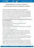 Giải bài tập Điện thế hoạt động và sự lan truyền xung thần kinh SGK Sinh 11