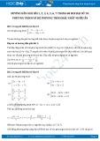 Giải bài tập Phương trình và hệ phương trình bậc nhất nhiều ẩn SGK Đại số 10