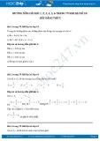 Giải bài tập Bất đẳng thức SGK Đại số 10