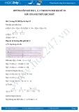 Giải bài tập Dấu của nhị thức bậc nhất SGK Đại số 10
