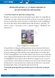 Giải bài tập Các cấp tổ chức của thế giới sống SGK Sinh học 10