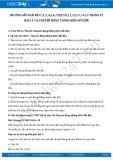 Giải bài tập Chuyển động thẳng biến đổi đều SGK Lý 10