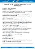 Giải bài tập Chuyển động cơ SGK Lý 10