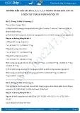 Giải bài tập Luyện tập thành phần nguyên tử SGK Hóa lớp 10