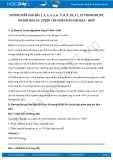 Giải bài tập Luyện tập phản ứng oxi hóa – khử SGK Hóa 10