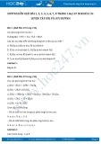 Giải bài tập Luyện tập oxi và lưu huỳnh SGK Hóa 10