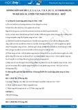 Giải bài tập Phân loại phản ứng trong hóa học vô cơ SGK Hóa 10