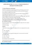 Giải bài tập Khái quát halogen SGK Hóa 10