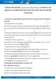 Giải bài tập Sự biến đổi tuần hoàn tính chất của các nguyên tố hóa học SGK Hóa 10