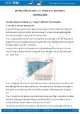 Giải bài tập Thường biến SGK Sinh học 9