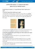 Giải bài tập Bệnh và tật di truyền ở người SGK Sinh học 9