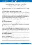 Giải bài tập Thành tựu chọn lọc giống ở Việt Nam SGK Sinh học 9