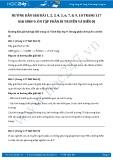 Giải bài tập Ôn tập phần di truyền và biến dị SGK Sinh học 9