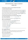 Giải bài tập Hệ sinh thái SGK Sinh học 9