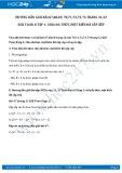 Giải bài tập Chia đa thức một biến đã sắp xếp SGK Toán 8 tập 1