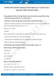 Giải bài tập Chia đơn thức cho đơn thức SGK Toán 8 tập 1