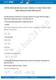 Giải bài tập Phép nhân các phân thức đại số SGK Toán 8 tập 1