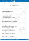 Giải bài tập Diện tích đa giác SGK Toán 8 tập 1