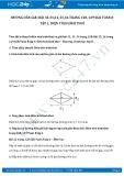 Giải bài tập Diện tích hình thoi SGK Toán 8 tập 1