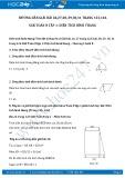 Giải bài tập Diện tích hình thang SGK Toán 8 tập 1