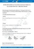 Giải bài tập Diện tích tam giác SGK Toán 8 tập 1
