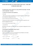 Giải bài tập Tính chất cơ bản của phân thức SGK Toán 8 tập 1